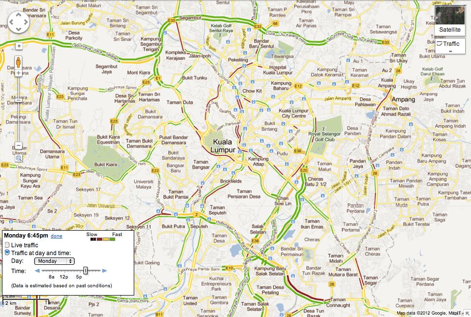 Kuala Lumpur Malaysia Map Google - kuala lumpur map