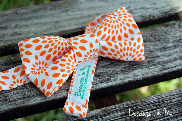 Because I'm Me Orange and White Starburst Bow Tie