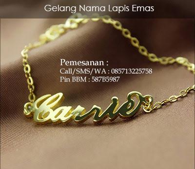 gelang nama lapis emas