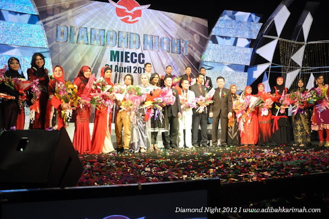 Diamond Night Dinner Award at MIECC for premium beautiful top agents with all ddm