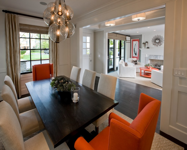 Lulu belle design trendy tuesday a day late for Orange dining room