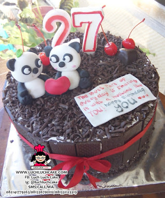 Kue Tart Panda Blackforest