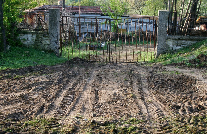 Main gates torn up