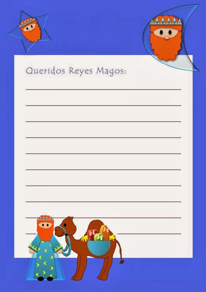 Worksheet. Cartas para Reyes Magos para imprimir  Portal de Manualidades
