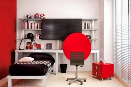 Red Theme Bedroom