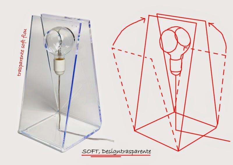 Lampade in plexiglass trasparente
