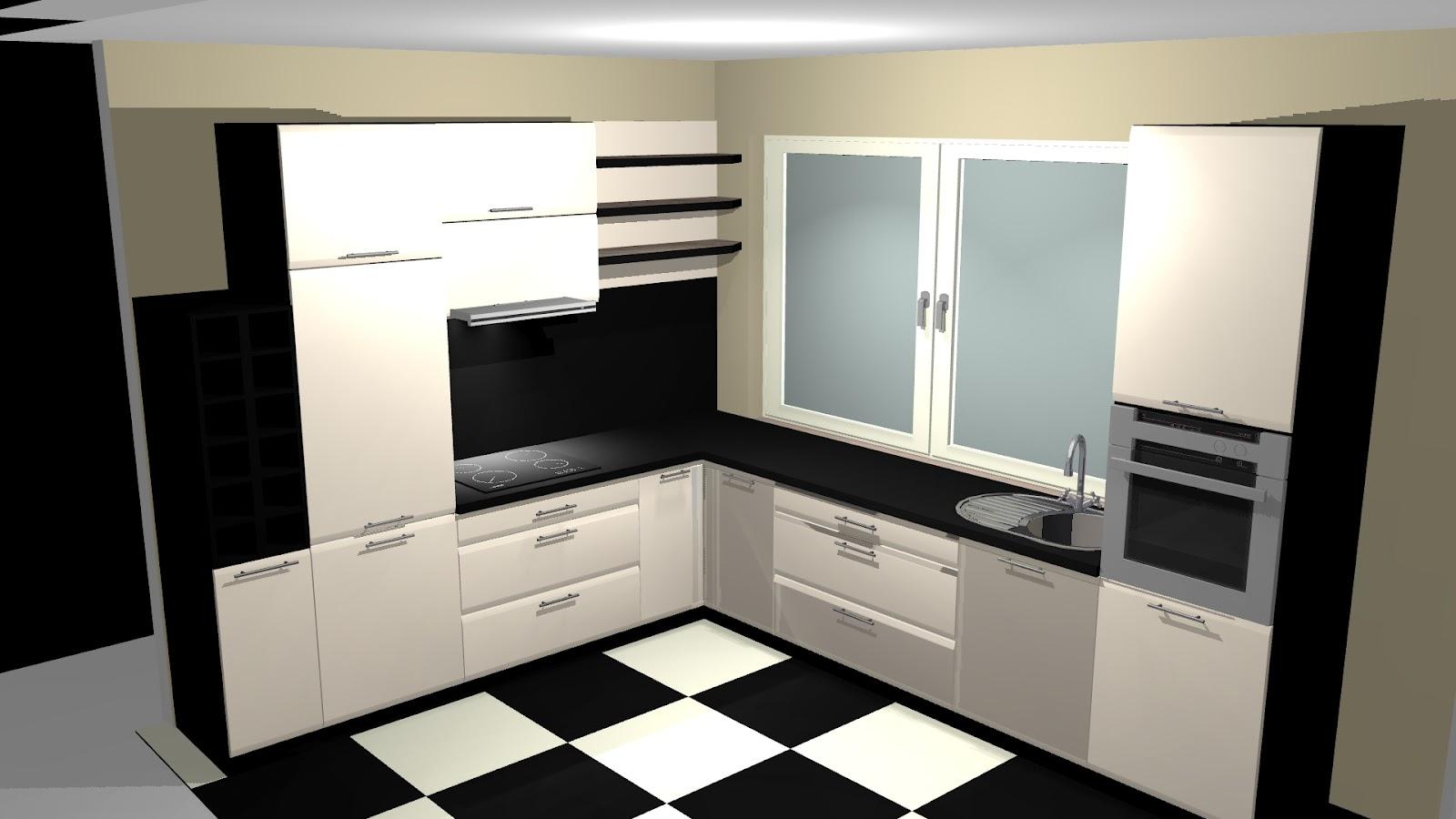 Home Sweet Home Biało czarna kuchnia -> Kuchnia Nowoczesna Grafitowa