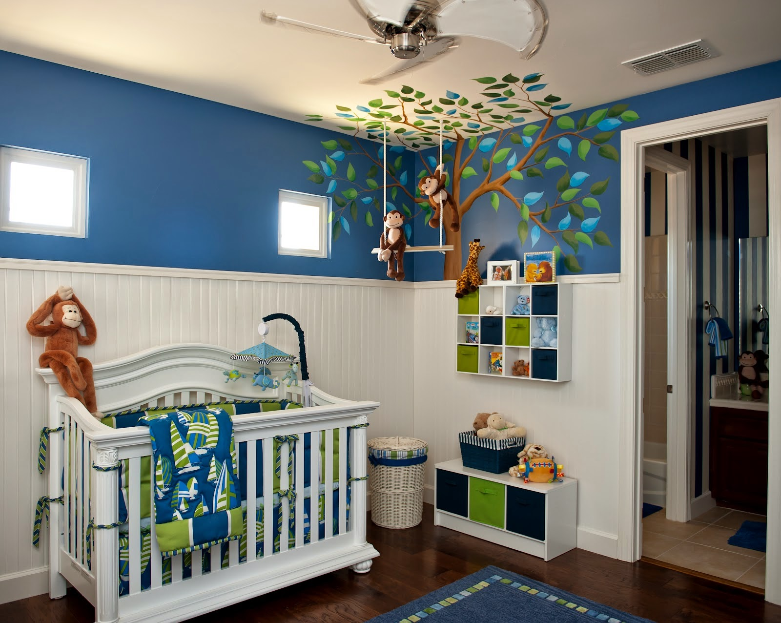 Amazing Design Of Nursery Colors Dazzle Blue