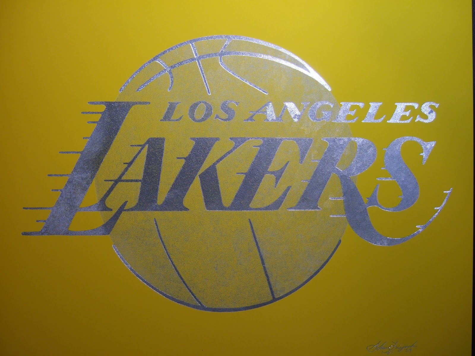 Exotic Engravings Los Angeles Lakers Logo