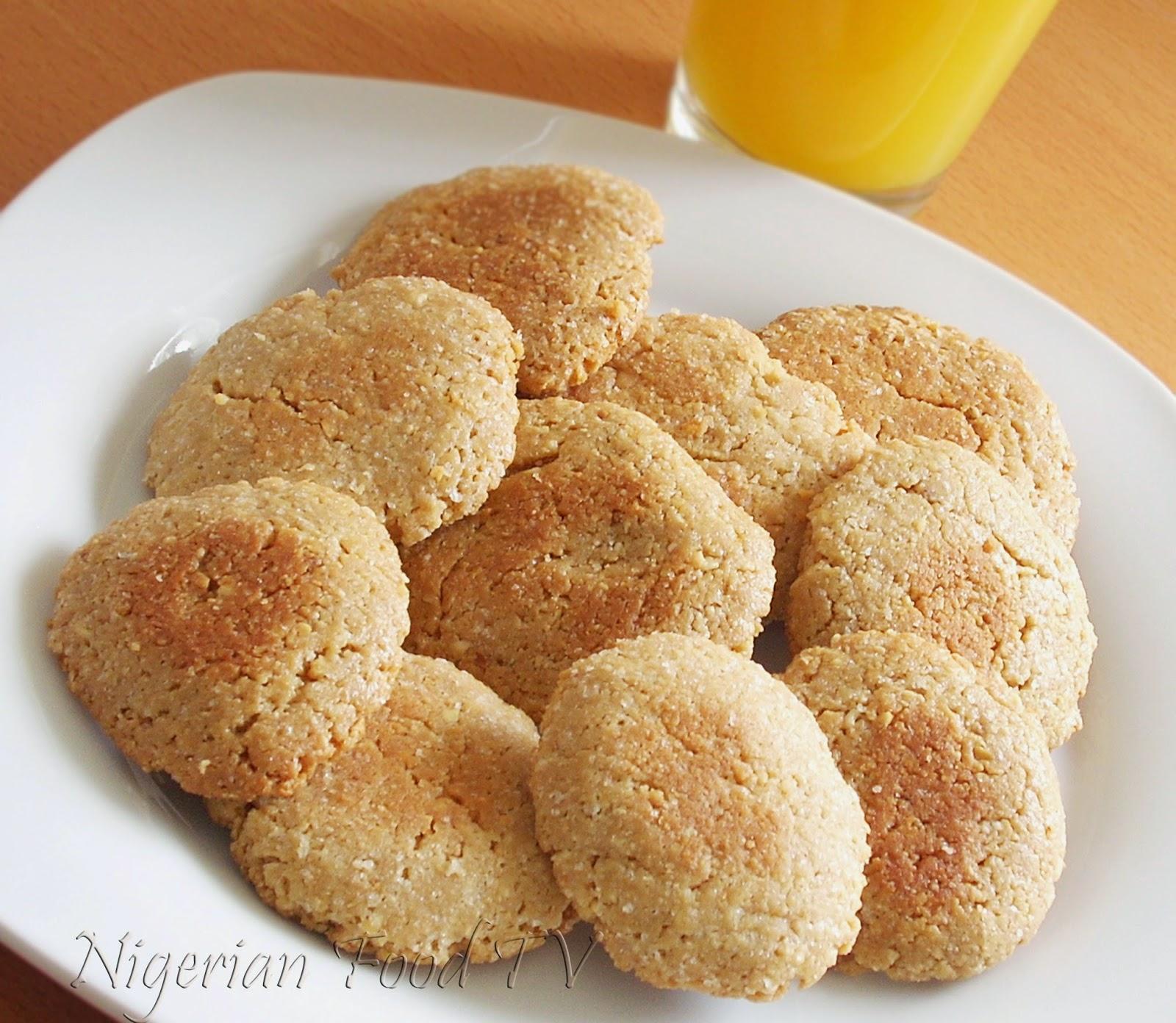 Homemade Peanut Cookies, nigerian food tv, groundut biscuits