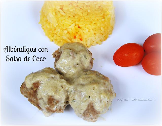 receta albondigas salsa de coco