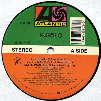 K-Solo – Letterman Remix (VLS) (1992) (320 kbps)