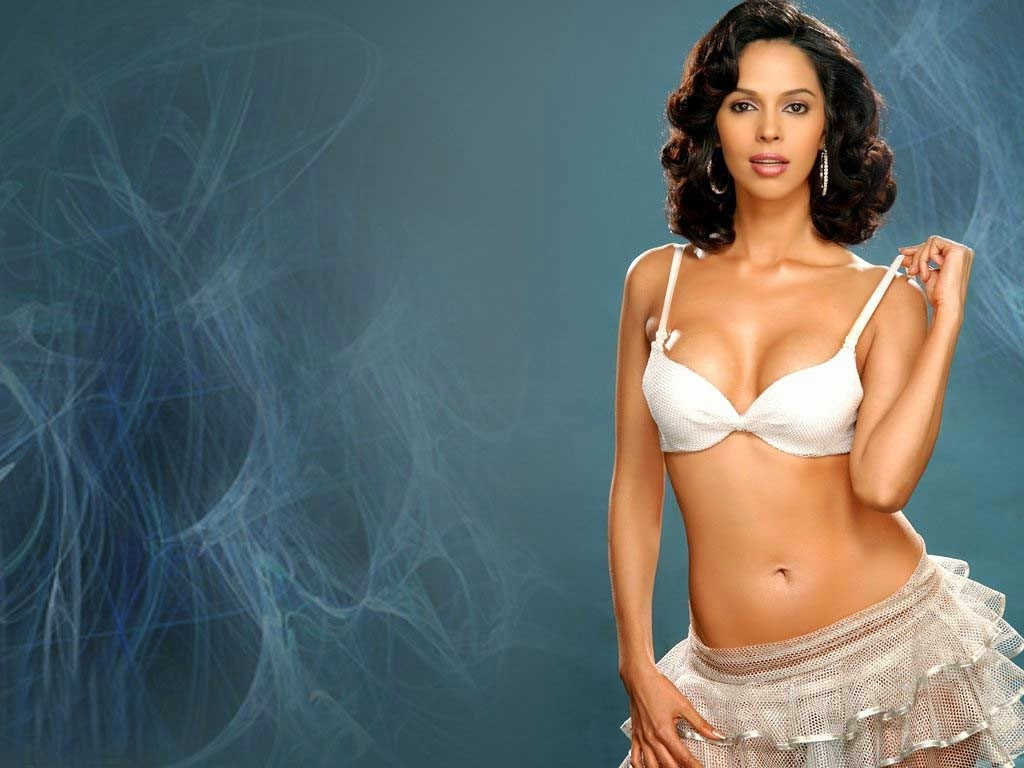 Mallika Sherawat in white bra panty wallpapers