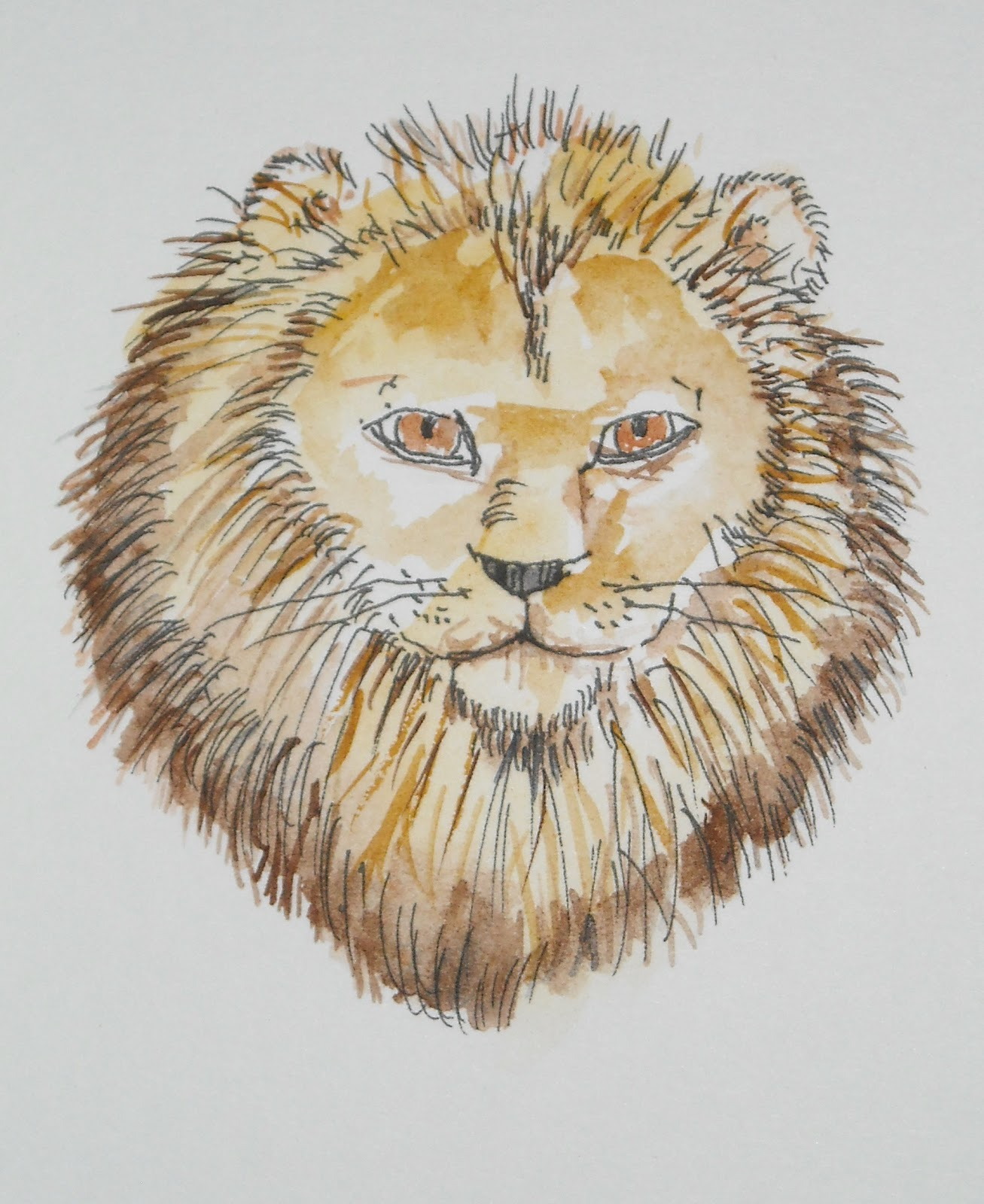 how to draw a lion face roaring easy