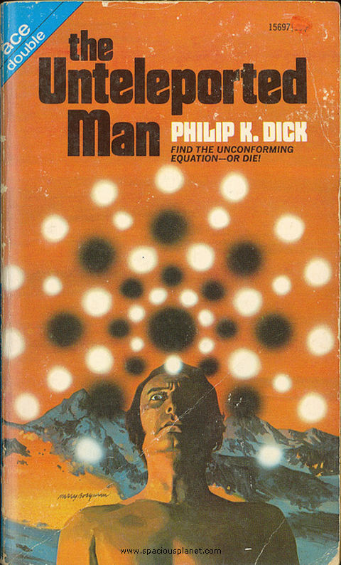 awesome classic sci-fi book cover Philip K. Dick The Unteleported Man