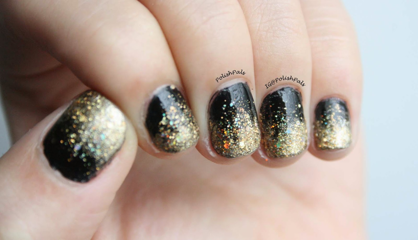 Polish Pals Gold Glitter Gradient