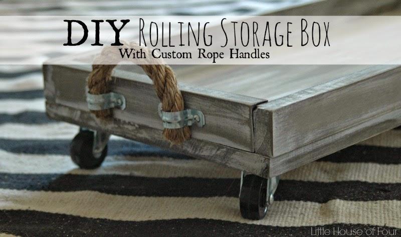 DIY Rolling Storage Box {Monthly DIY Challenge}