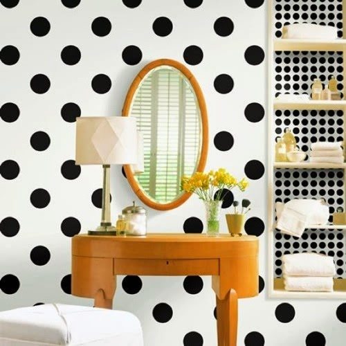 Polka dots in interior design for Polka dot bedroom designs