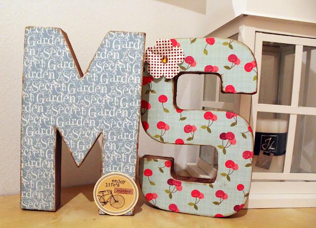 letras de cartón personalizadas