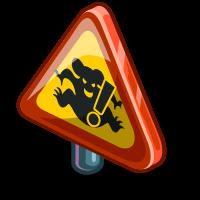 FarmVille Beware of Drop Bear Sign