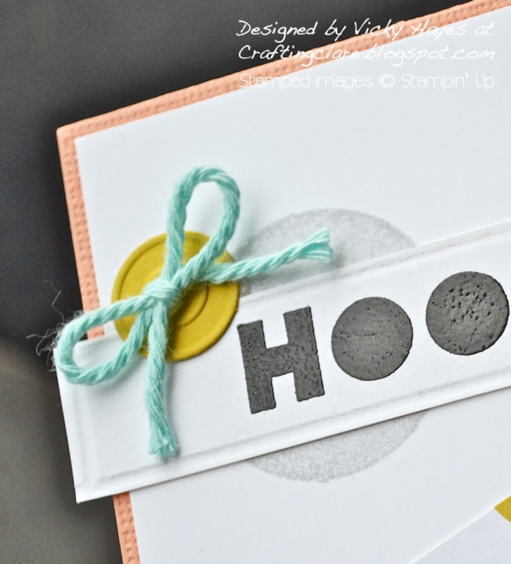 Stampin' Up supplies from Vicky at Crafting Clare's paper moments