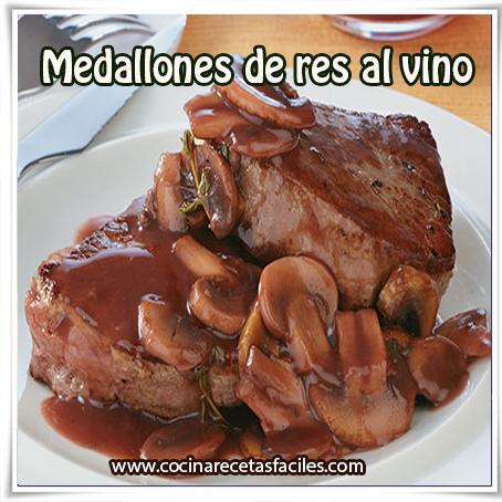 Recetas de carnes,  receta medallones de res al vino , carnes , hongos