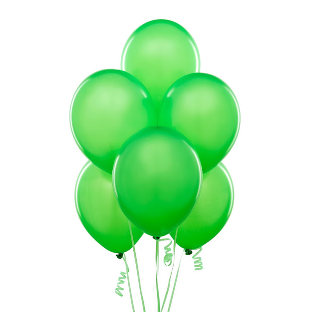 balloon green invitations