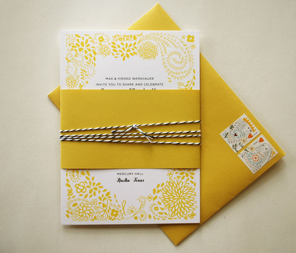 floral daisy wedding invitations - Daisy Wedding Invitations
