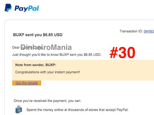 Pagamento Paypal BUXP