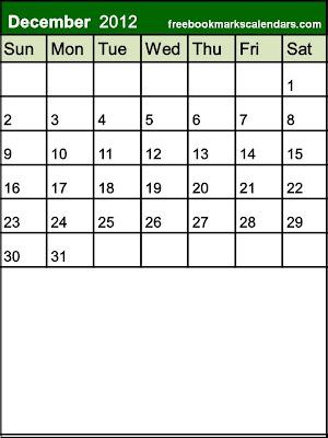 Blank December 2013 Calendar Printable