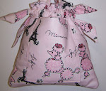 Pink Paris Fifi Poodle Baby Girl Diaper Bag