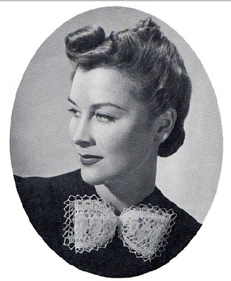 1940's Knitting - Butterfly Bow free pattern