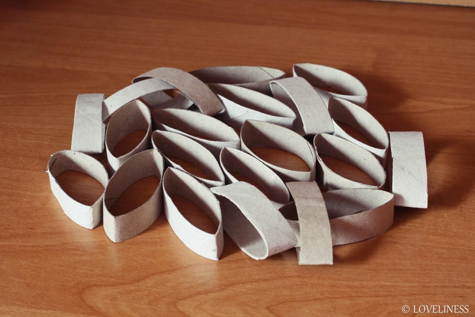 DIY papierowa rozeta