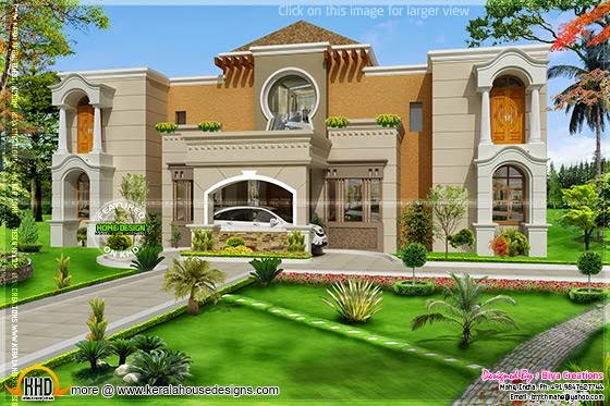 July 2014 kerala home design and floor plans for Arabic home design