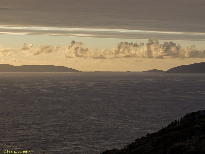 evening clouds over Dingle Bay