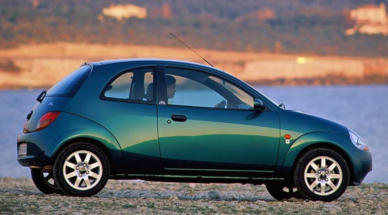 Ford Ka Side View This Seems To Be From A Later Model Year Where The Impact Zone Cladding Is De Emphasized Because Here Its Texture And Color Blend With