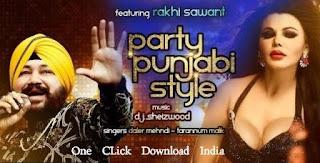 Party Punjabi Style by Daler Mehndi with Rakhi