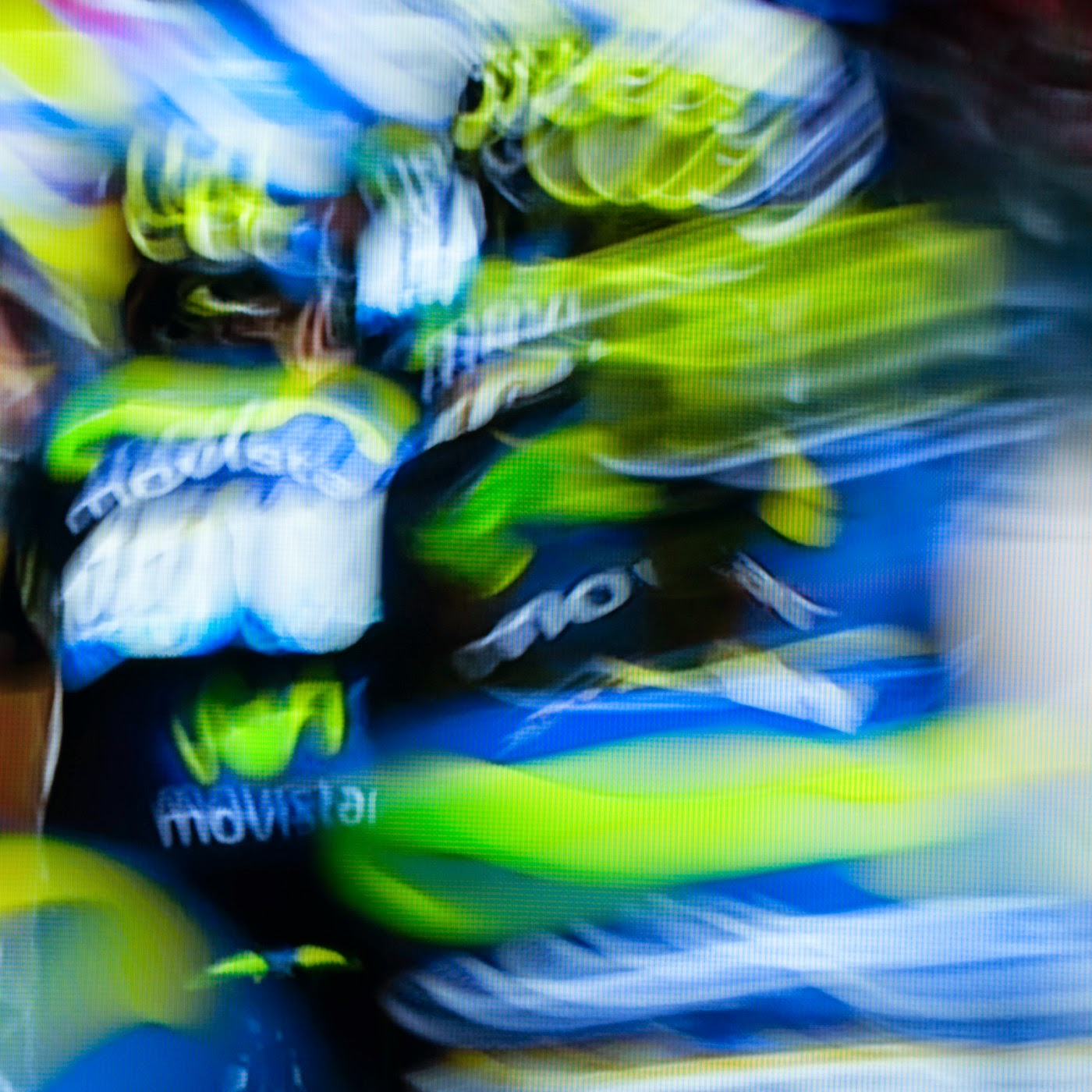 le tour de france, motion blur, blur, abstract, abstraction, tim macauley, photographic art, you won't see this at MoMA, appropriation, found imagery, le tour 2014, tv footage, portrait, timothy Macauley, the light monkey collective, grand cycling tour, team movistar