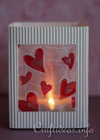 valentine 39 s day craft romantic paper table lantern