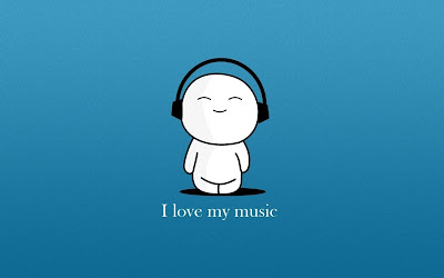 I Love My Music - Emoticon Blue wallpapers
