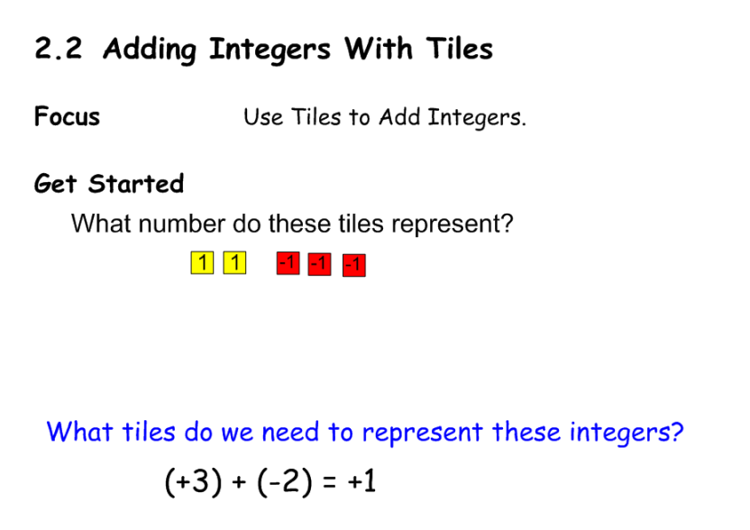 how to add positive and negative integers