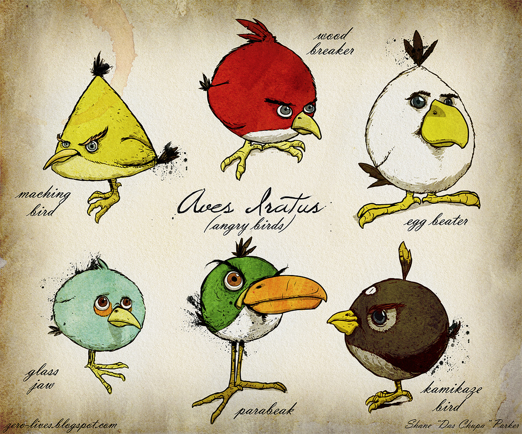 angry bird drawings