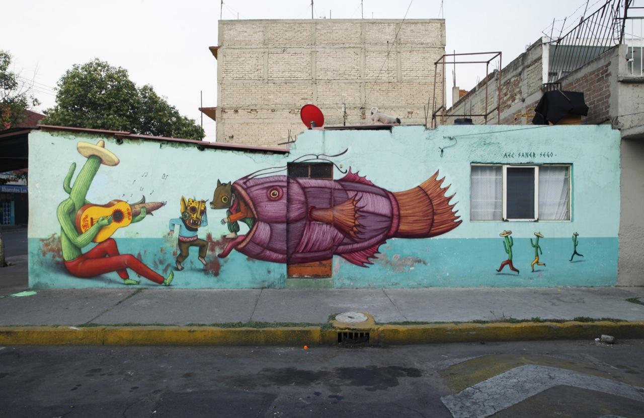 saner x sego x aec interesni kazki new mural in mexico city streetartnews streetartnews