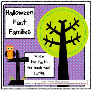 Pitner's Potpourri: Halloween Fact Families - Freebie!