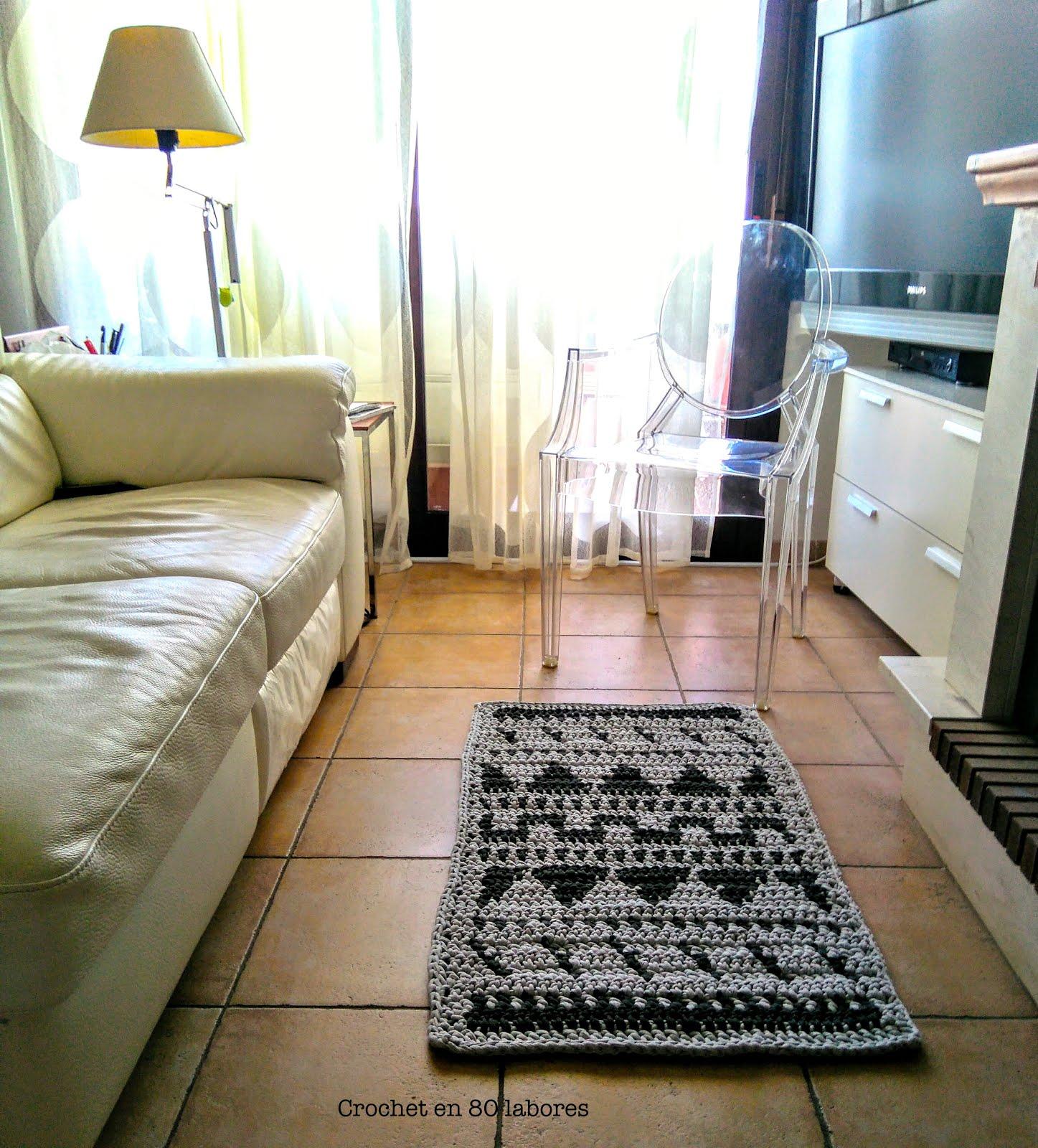 Crochet en 80 labores alfombra con dibujos geom tricos - Alfombras dibujos geometricos ...