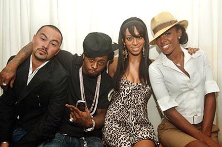 Foto do Lil Wayne junto a Kelly Rowland