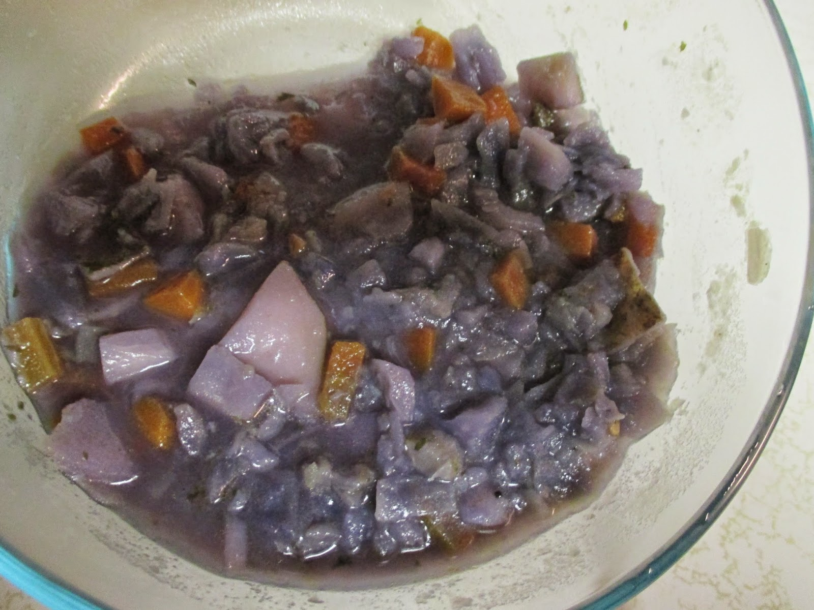 purple soup plus carrots