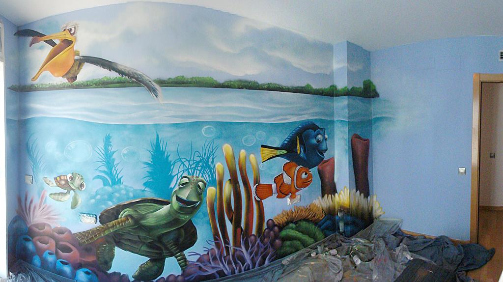 Berok graffiti mural profesional en barcelona dibujo for Mural para habitacion