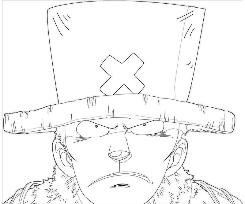 one-piece-tony-tony-chopper-face-coloring-pages