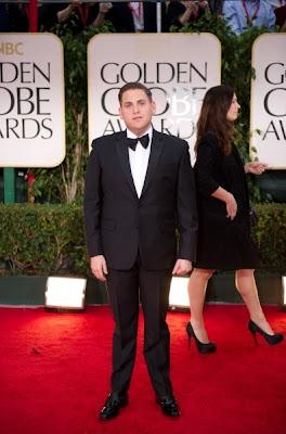 Jonah Hill en los Golden Globe Awards 2012